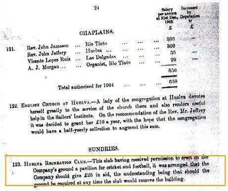 RDB 1904. (Hace alusión a los acuerdos y acciones efectuadas en 1903