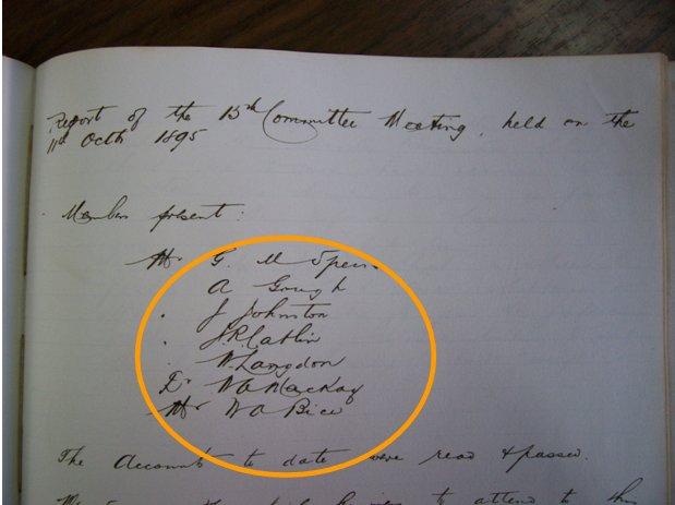 del 18 de Octubre de 1895. Seamen´s Institute. (AHFT)