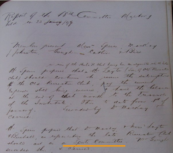 Acta de 23 de Enero de 1897. Seamen´s Institute.