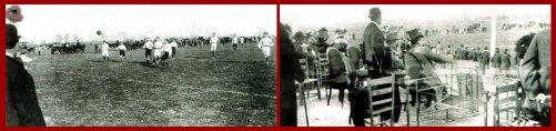 Partido benéfico en el mismo escenario entre el Sevilla Football Club y el Huelva Recreation Club en 1909