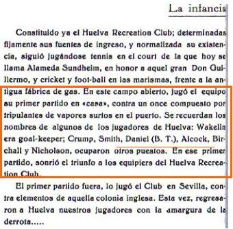 """""""Historia del football en Huelva y su provincia"""" 1930."""