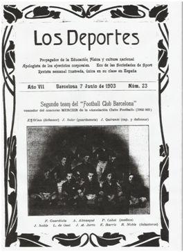 J.Soler en la portada de Los Deportes (7-06-1903) oculto en las sombras. Como en la historia.