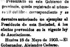 "20 de Mayo 1903. ""La Provincia"""