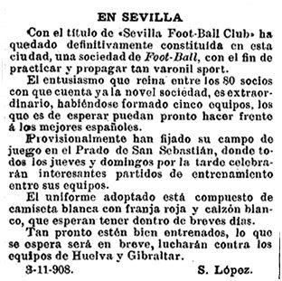 El Mundo Deportivo, 18-11-1908