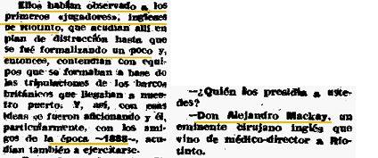 Extracto de la entrevista a D. Ildefonso Martínez. 1 de Febrero de 1955 (Diario Odiel)