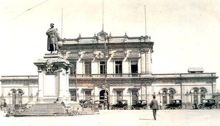 Estación del Ferrocarril Mexicano a principios del siglo XX.