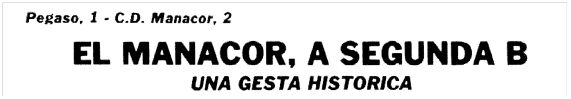 "Titular de la sección deportiva de la revista local ""A tota Plana"", núm. 191, del 26 de junio de 1984."