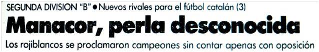 Titular del periódico El Mundo Deportivo, núm. 21204, del 13 de julio de 1990, pág. 31.