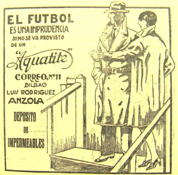 """La imprudencia de no vestir adecuadamente para ver fútbol, en el vespertino bilbaíno """"La Tarde"""" (diciembre 1929)."""