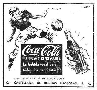 Así se anunciaba Coca-Cola en 1956.