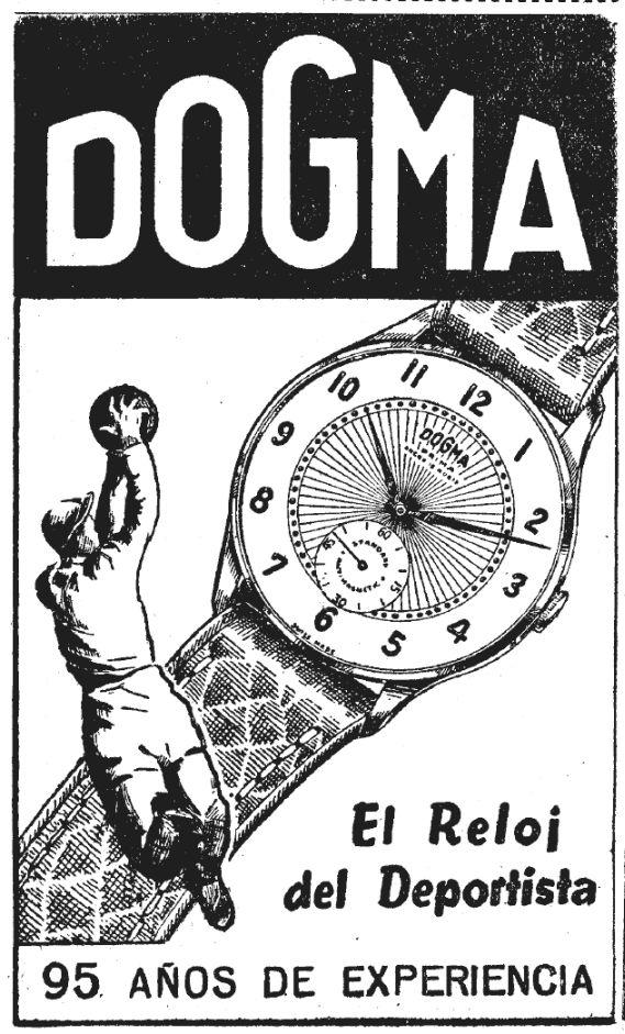 Publicidad fechada en el verano de 1955. Por esa época parecía no existir otro deporte que el fútbol.