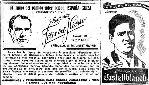 Zarra (febrero 1951), o Juncosa (marzo 1952), ni se plantearon que Castellblanch o Félix del Hierro les adeudaban algo.