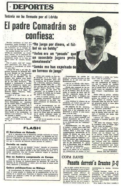 Diario de Lérida 31/07/1977.
