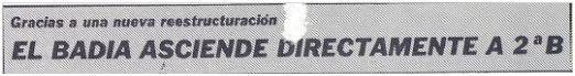 Titular de la portada de Esportiu Comarcal, núm. 330, 25 mayo 1987.