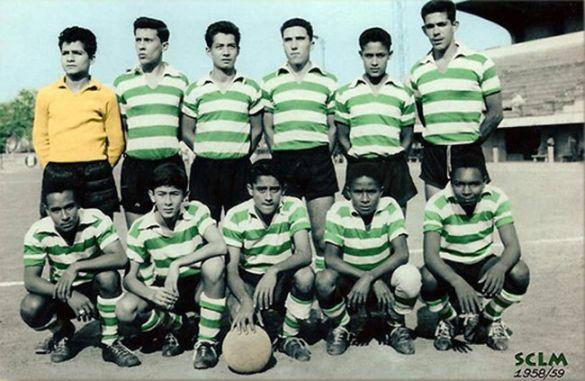 ESCALÃO DE JÚNIORES – ÉPOCA 1958/59 Braga Borges - André - Lino Alonso - Flores (Gomes) - Bessa - Cunha -James - Manuel António - Ashok - Eusébio - Madala