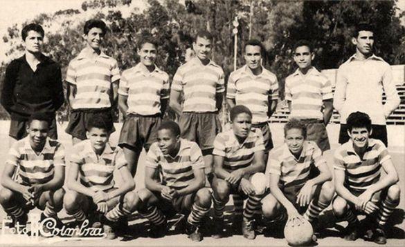 ESCALÃO DE JÚNIORES – ÉPOCA 1959/60 Braga Borges - Leitão - Bessa - Sau - James (capitão) - Coelho – Delfim Madala - Roberto Mata - Eduardo - Eusébio - Morais Alves - Isidro
