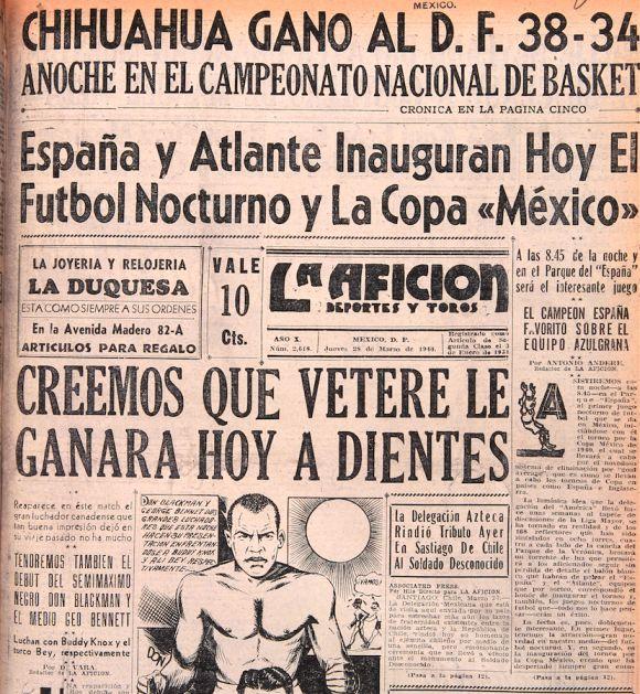 Portada La Afición 28 de marzo de 1940.