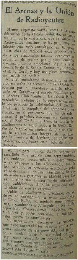 Excelsior, 11 de mayo de 1927