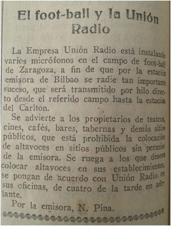 Excelsior, 12 de mayo de 1927