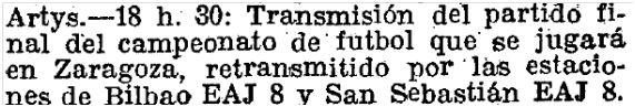 Y gracias a La Vanguardia y El Imparcial hemos conocido que también pudo escucharse el partido por la emisora de San Sebastián. La Vanguardia, 15 de mayo de 1927