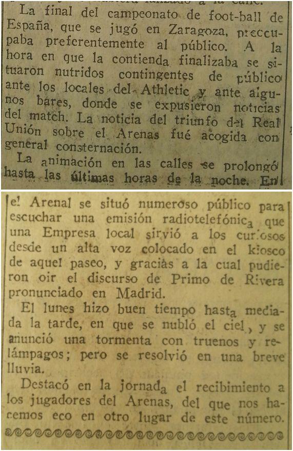Excelsior, 17 de mayo de 1927