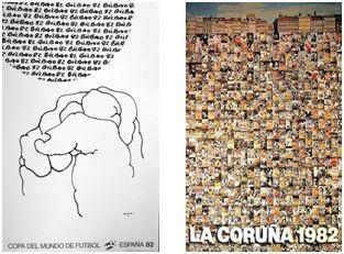 """""""Despeje"""", de E. Chillida y """"CALEIDOSCOPIO"""", de Erró."""