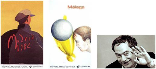 """""""El portero"""", de E. Arroyo, """"La copa"""", de R. Topor y retrato del artista Topor."""
