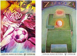 """""""El delantero centro"""", de J. Monory y """"El dios del estadio"""", de J. M. Folon."""