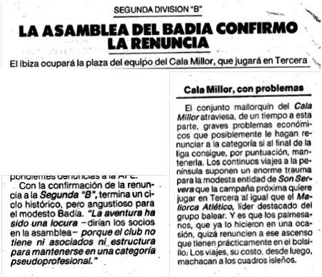 El Mundo Deportivo, 12 julio de 1989, pág. 36 y 16 mayo 1989, pág. 26.