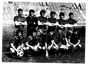 Alineación de España en el Mundial juvenil de Túnez 1977, extraída del Informe Técnico oficial del torneo