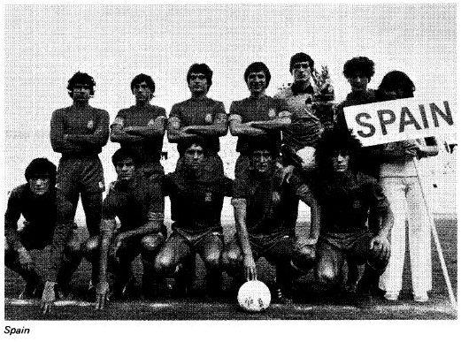 Alineación de España en el Mundial juvenil de Japón 1979, extraída del Informe Técnico oficial del torneo.