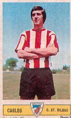 Carlos, en un cromo de la temporada 1973-74.