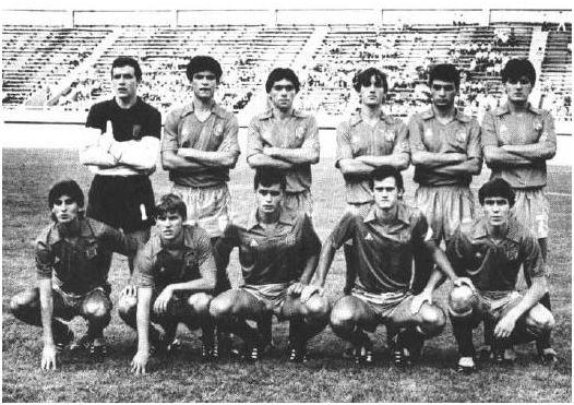 Alineación de España en el Mundial juvenil de la URSS 1985, extraída del Informe Técnico oficial del torneo.