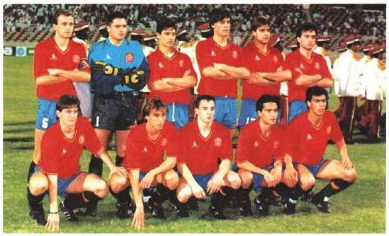 Alineación de España en el Mundial juvenil de Arabia Saudita 1989, extraída del Informe Técnico oficial del torneo.