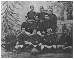 Hispania Athletic Club (1901) con Enrique y Samuel Morris.