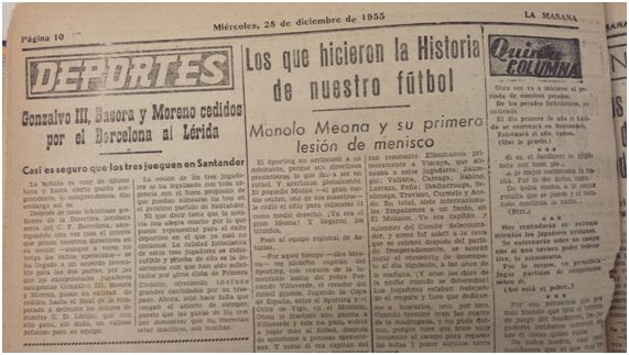 Edición del diario La Mañana del 28 de diciembre de 1955.