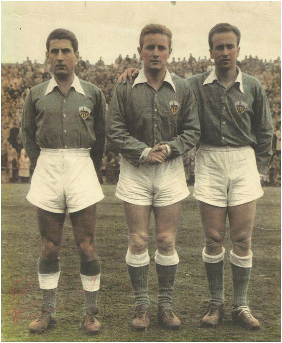 Moreno, Gonzalvo III y Basora el día de su debut en el Camp d'Esports de Lleida.