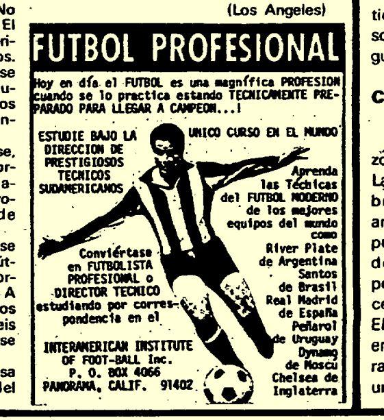 Cualquiera podía hacerse profesional del fútbol por correspondencia. Al menos así lo aseguraban unos osados desde el californiano Interamerican Institute.