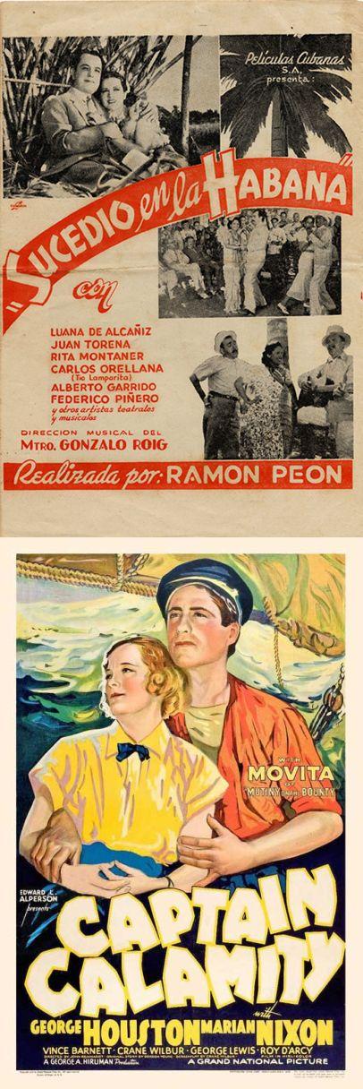 """Juan Torena se movió sobre todo entre lo que pudiéramos denominar cine latino y el género de aventuras, por más que en el afiche de """"Capitán Calamity"""" no incluyeran su nombre."""