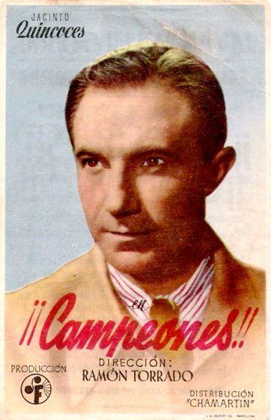 """Quincoces, internacional con 3 películas y honores de papel impreso en """"Campeones"""", reservados sólo a estrellas de tronío."""