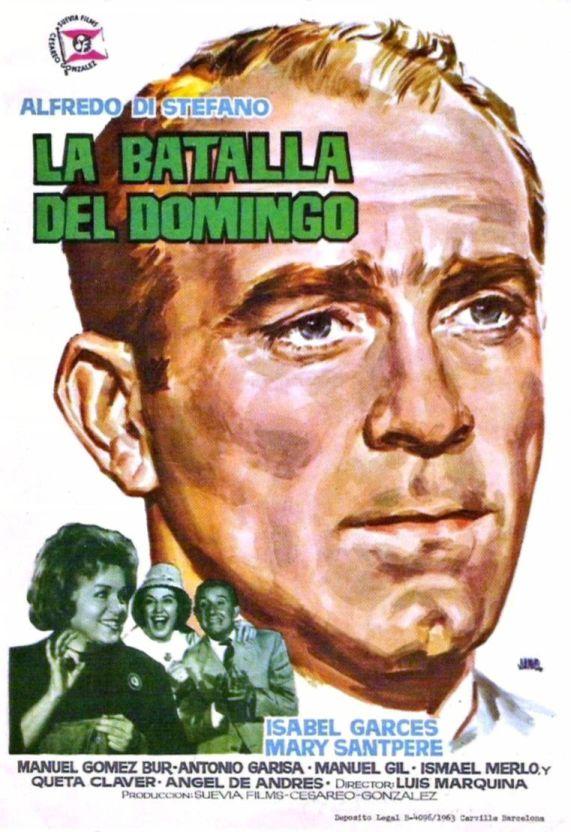 """""""La batalla del domingo"""", con un Di Stéfano próximo a la retirada. Si el argentino revolucionó el fútbol, por el cine sólo pasaría de puntillas."""