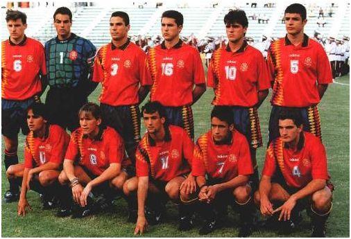 Alineación de España en el Mundial juvenil de Qatar 1995, extraída del Informe Técnico oficial del torneo.