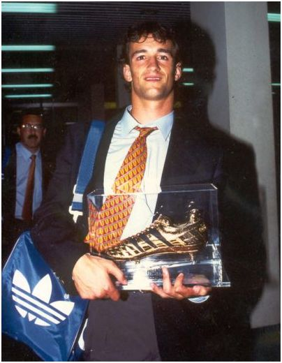 Joseba Etxeberria regresó a España como máximo goleador de Qatar'95 (fuente: http://www.miathletic.com)