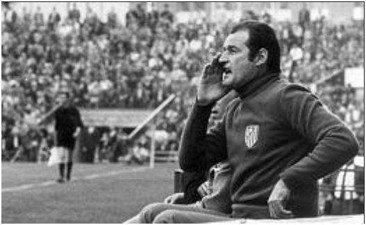 Marcel Domingo en su etapa como entrenador del Atlético de Madrid