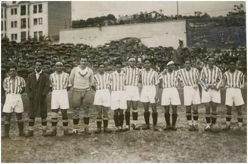 Final de Copa 1931. Aranda es el sexto por la izquierda