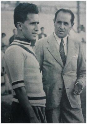 Andrés Aranda, entrenador del amateur en 1935