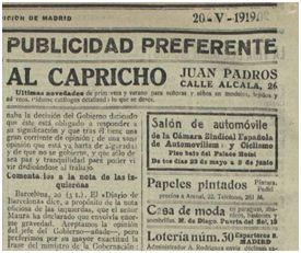 Heraldo de Madrid 20 mayo 1919