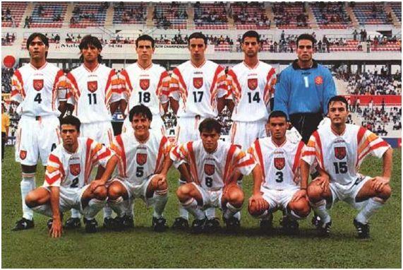 Alineación de España en el Mundial juvenil de Malasia 1997, extraída del Informe Técnico oficial del torneo.