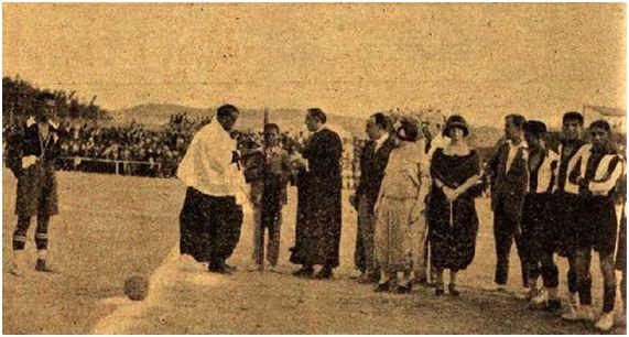 Bendición del campo de la Avenida de la Libertad de Cieza en 1924