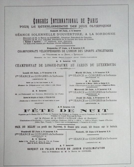 Cartel del Congreso Internacional de París